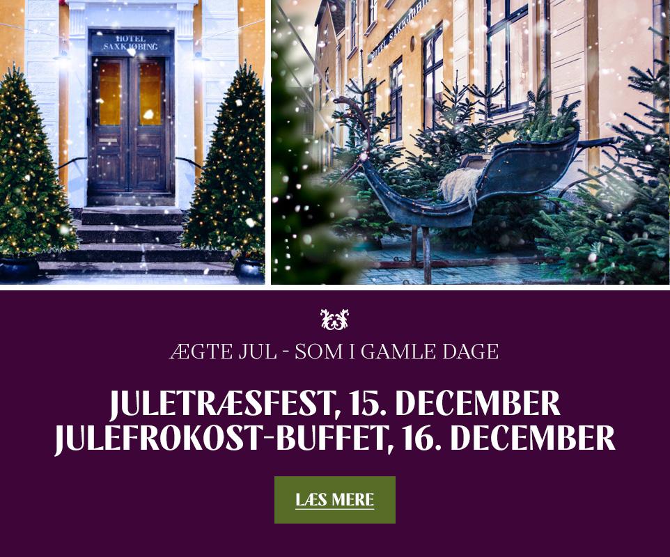 Juletræsfest d. 15. dec. og julefrokost buffet d. 16. dec